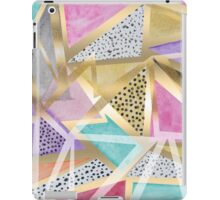 Geometric triangles watercolor hand paint pattern iPad Case/Skin