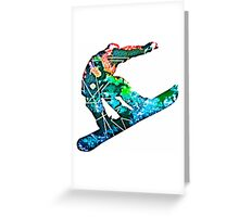 Retro snowboarder Greeting Card