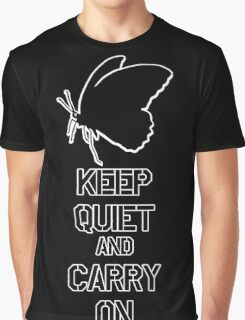 Keep Quiet and Carry on MGS V Graphic T-Shirt