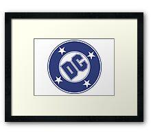 DC COMICS - CLASSIC BLUE LOGO Framed Print