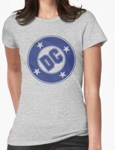 DC COMICS - CLASSIC BLUE LOGO Womens Fitted T-Shirt