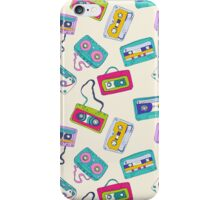 Vintage Cassette Tape Pattern iPhone Case/Skin