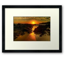 Sunrise at Burgess Beach. Framed Print
