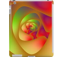 Spiral Labyrinth in Red Green and Orange iPad Case/Skin