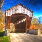 Brownsville Covered Bridge in Mill Race Park by David Owens