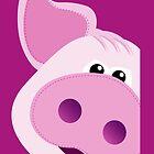 Big Pink Piggy - iPad Cover by BlueShift