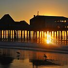 Pier Silhouette at Sunrise by Poete100