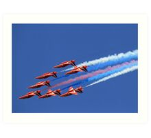 The Red Arrows ~ The Royal Air Force Art Print