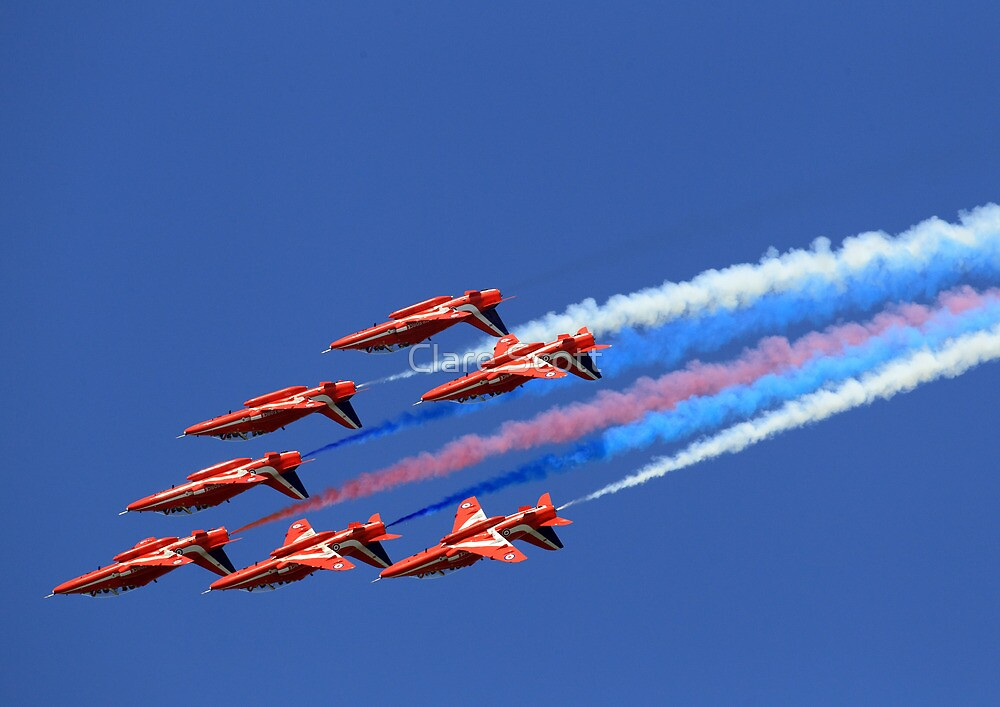 The Red Arrows ~ The Royal Air Force by Clare Scott