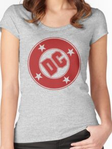 DC COMICS - CLASSIC RED LOGO Women's Fitted Scoop T-Shirt