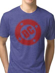DC COMICS - CLASSIC RED LOGO Tri-blend T-Shirt