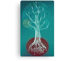 Teal Tree Canvas Print