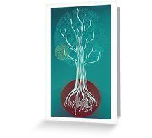 Teal Tree Greeting Card