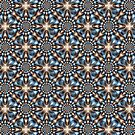 Whirling Dervish in Blue and Brown by Objowl