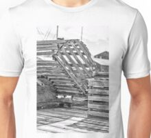 Black And White Lobster Traps Unisex T-Shirt