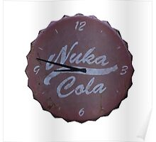 NUKA COLA CLOCK CUT OUT FALLOUT 4 Poster