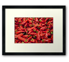 Big Red Peppers  Framed Print