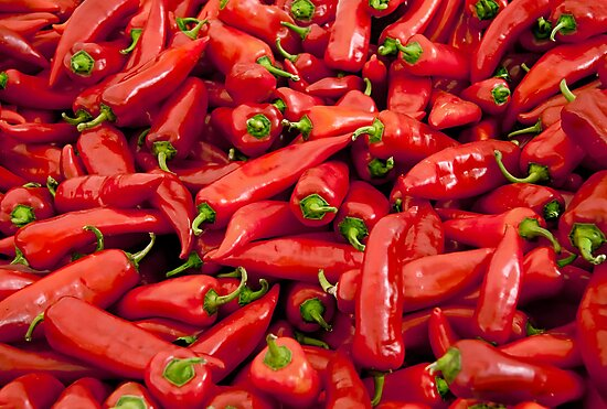 Big Red Peppers  by Kuzeytac