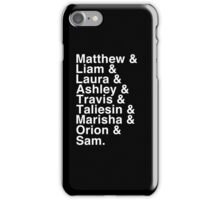 The Cast of Critical Role - Helvetica List (Inverted) iPhone Case/Skin