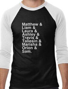The Cast of Critical Role - Helvetica List (Inverted) Men's Baseball ¾ T-Shirt