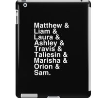 The Cast of Critical Role - Helvetica List (Inverted) iPad Case/Skin