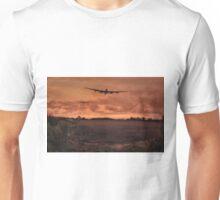 Lancaster Bomber Sorte Unisex T-Shirt