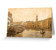 Venezia D'Oro 3 Greeting Card