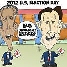 Obama Romney political cartoon by Binary-Options