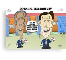 Obama Romney political cartoon Canvas Print