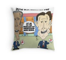 Obama Romney political cartoon Throw Pillow