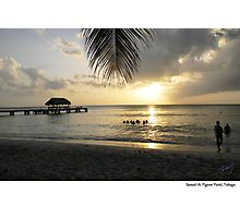 Sunset At Pigeon Point, Tobago. Photographic Print