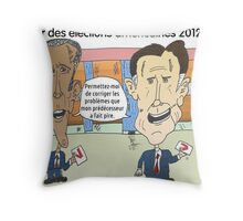 OBAMA et ROMNEY en caricature politique Throw Pillow