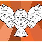Geometric Owl by irarmadilloboy