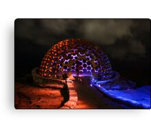 The Dome - Light Painting - Sculptures By The Sea Canvas Print