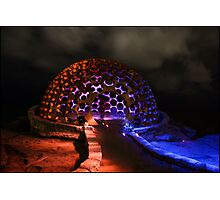 The Dome - Light Painting - Sculptures By The Sea Photographic Print