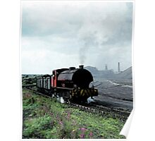 Locomotive with load of coal Poster