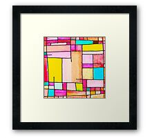 Abstract of city Framed Print