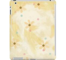Soft Yellow Grunge Floral Art iPad Case iPad Case/Skin