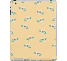 Yellow Floral Textured Art iPad Case iPad Case/Skin