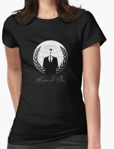 Anonymous - Expect Us Womens Fitted T-Shirt