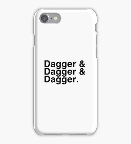 Helvetica List - Dagger Dagger Dagger - Critical Role iPhone Case/Skin