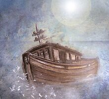 Ghost Ship in the Storm by Carien