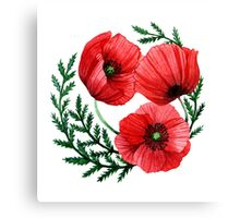 The poppies Canvas Print
