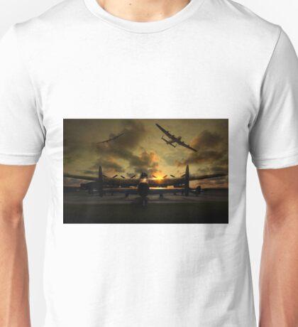 Sunset Lancaster Bombers Unisex T-Shirt