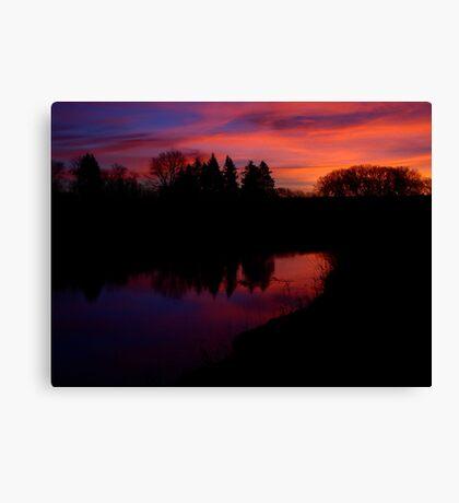 Sunrise Over Skunk Creek Canvas Print