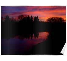 Sunrise Over Skunk Creek Poster