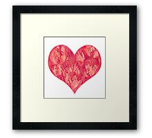 Kiss (White Background) Framed Print