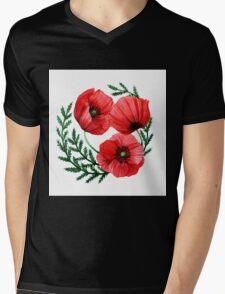 The poppies Mens V-Neck T-Shirt