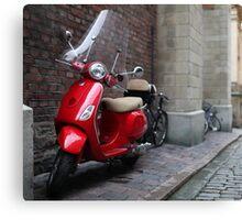 Vespa a scooter Canvas Print