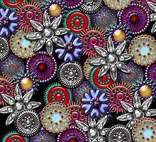 Bejeweled Brooches, iPad Case by Cherie Balowski